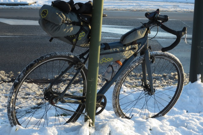 Bike in Belgium winter